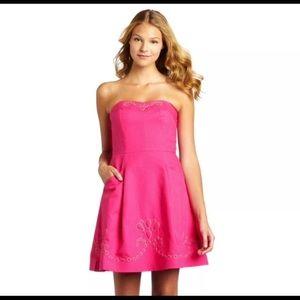 Lilly Pulitzer Bernadette strapless dress sz 10